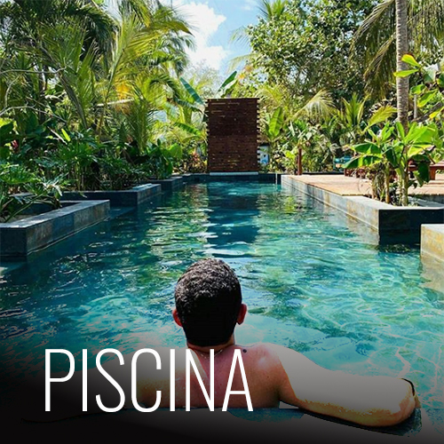 Con un muro de escalada y un deck donde puedes tomar el sol, nuestra piscina está para aquellos que quieran hacer deporte, pasar el rato o tener en su piel el color del caribe Colombiano.